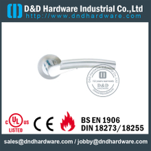 Antirust Investment Cast Solid Stainless Steel Lever on Rose for Wood Doors -DDSH017