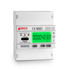 EM418 10(100)A MID approved Single Phase multi-function meters multi-rate meter RS485 Din Rail Modbus Energy Meter