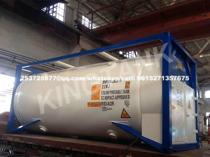 T75 iso tank container for LNG. LN2, LO2, LAr, LN2O, LC2H4, LC2H6