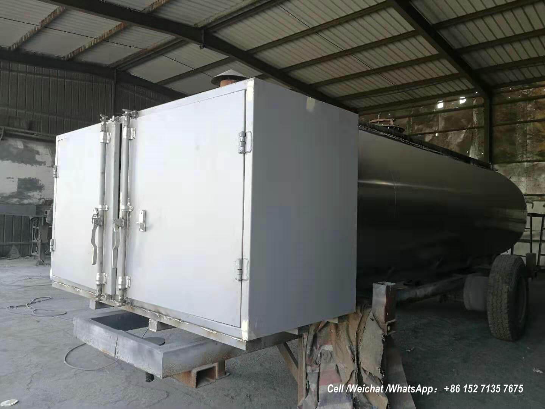 9m3 hot asphalt moving tank -01- Bitumen Tank truck