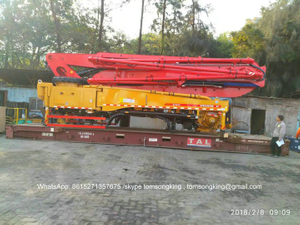 Truck-Mounted Concrete Boom Pump Upper Body 27M -35M Customizing