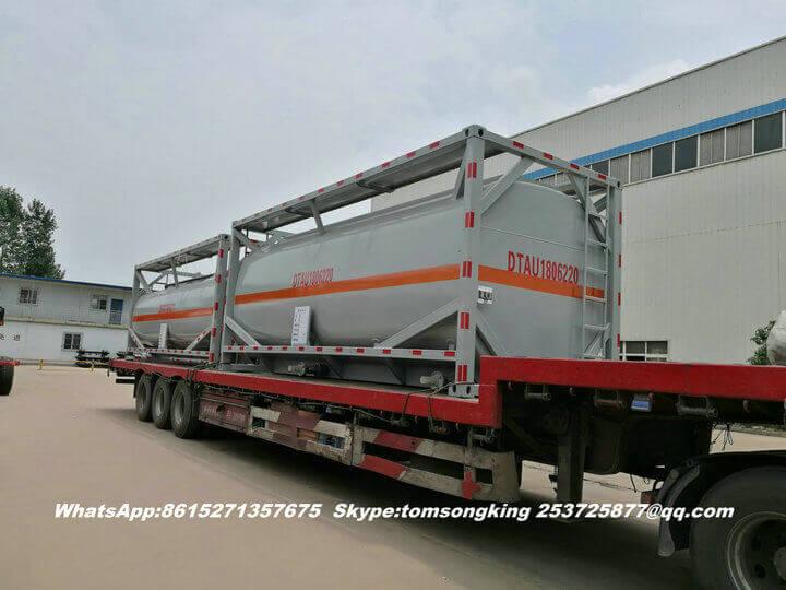 Steel lined PE ISO tank -91