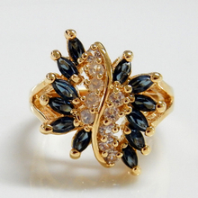 Gold Tone Marquise Ring