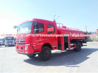 4x4 AWD Off Road Water tanker Truck With Fire pump Euro 3/4 /5