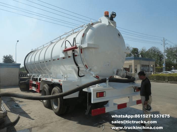 Remorques en acier risquées de Cesspit de réservoir de vide
