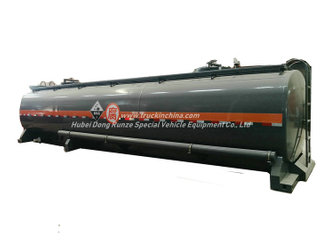 30FT 40FT Hydrochloric Acid ISO Tank Container 26KL -28KL Steel Tank Lined LDPE 16mm
