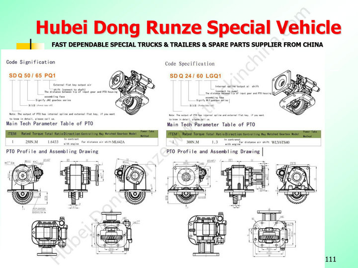 China Truck PTO Assembly For Special Vehicle