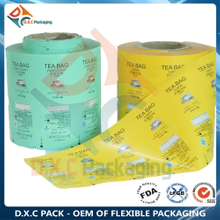 Printed Food Packaging Lamination Plastic Film Roll for Tea Packaging