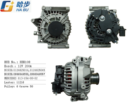 AC /Auto Alternator for Benz 12V 200A 0-124-625-014, 0-124-625-045