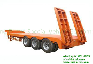 DRZ9401TDP 3 axles Low Bed Trailer Lowboy Truck Semi Trailer
