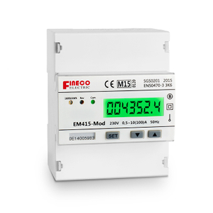 EM415-Mod 10(100)A MID approved lcd display single phase din rail mounted modbus kwh meter