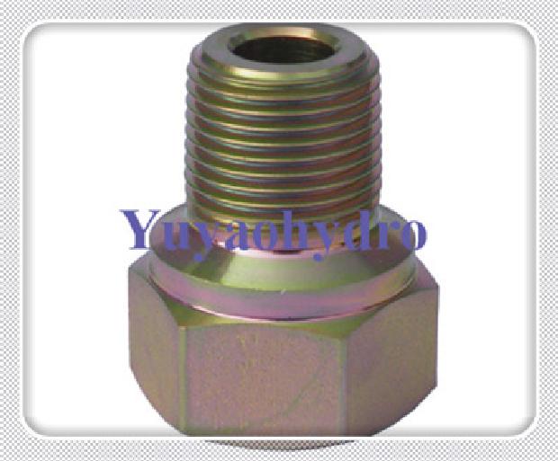 Hydraulic straight thread tube fittings
