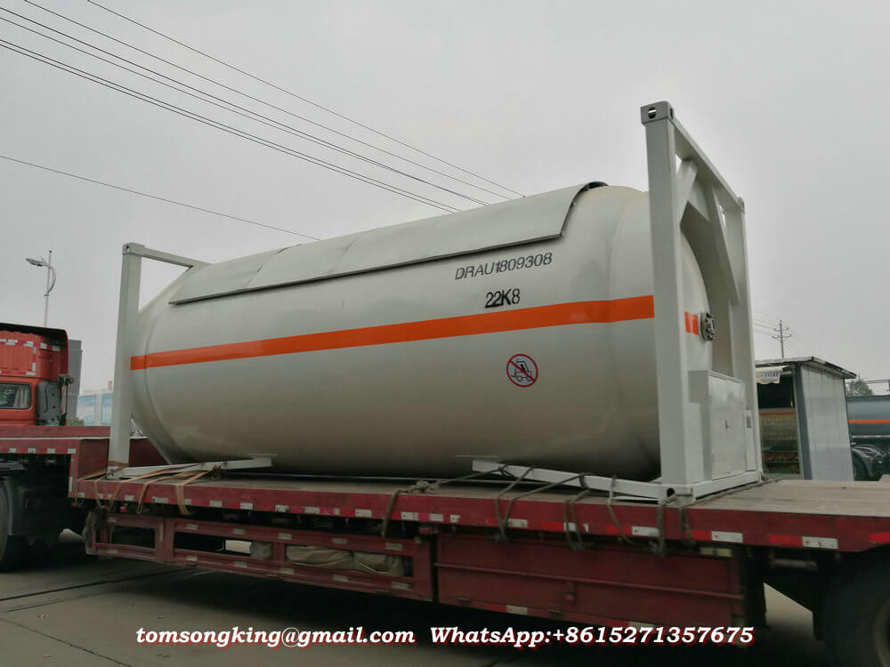 20FT Liquid Ammonia NH3 ISO Tank Container Export Vietnam