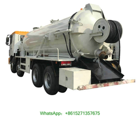 CAMC 8x4 RHD 20000 Liters High Pressure Jetting Vacuum Tanker Trucks