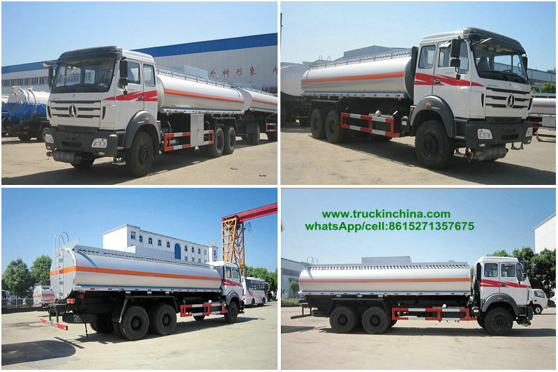 Beiben 2527/2534 /2638 Fuel Truck road Tanker for Sale 6x4 22000L