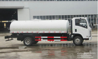 ISUZU 700P 4x2 9000L-10000L water tank truck watercart for sale