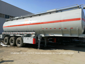 Acetic Acid Tanker Semi Trailer 3 Axles For Transport Acetic Acid 5%, Glacial Acetic Acid 50%