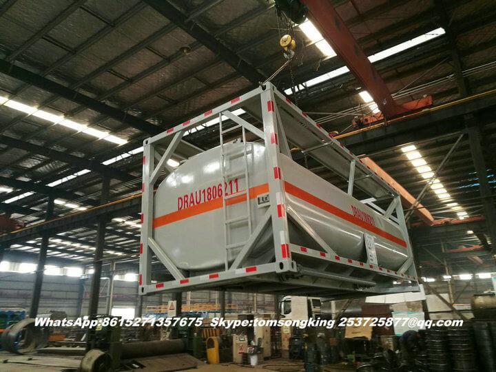 Steel lined PE ISO tank -11