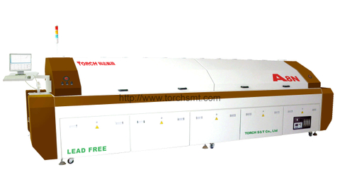 Large-size lead-free Reflow Oven with eight heating-zones A8N