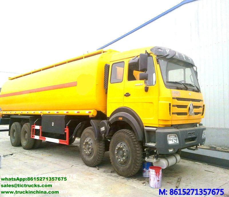 Véhicule de transport de pétrole brut de Beiben 30000L