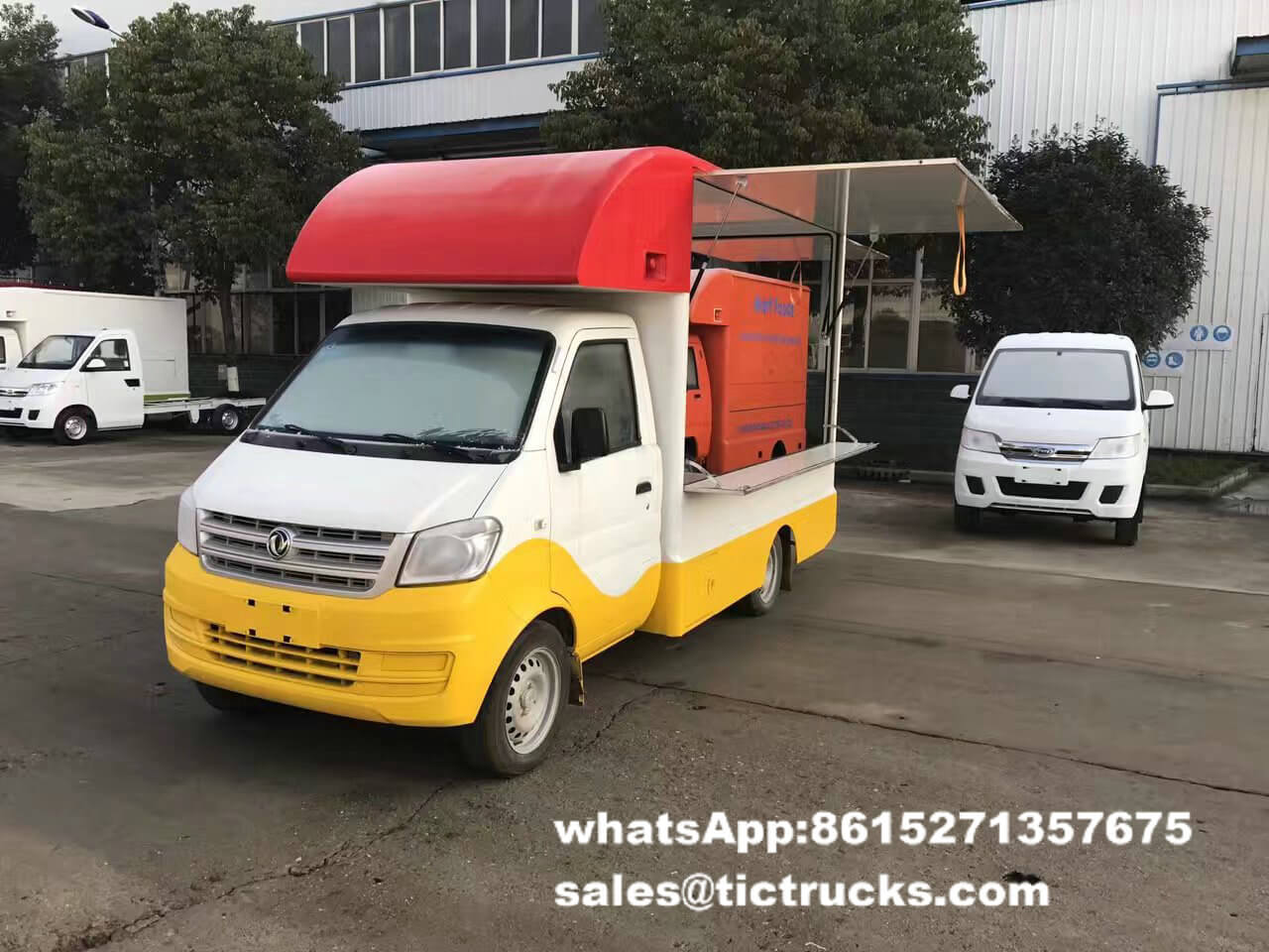 DONGFENG food vending van truck mobile