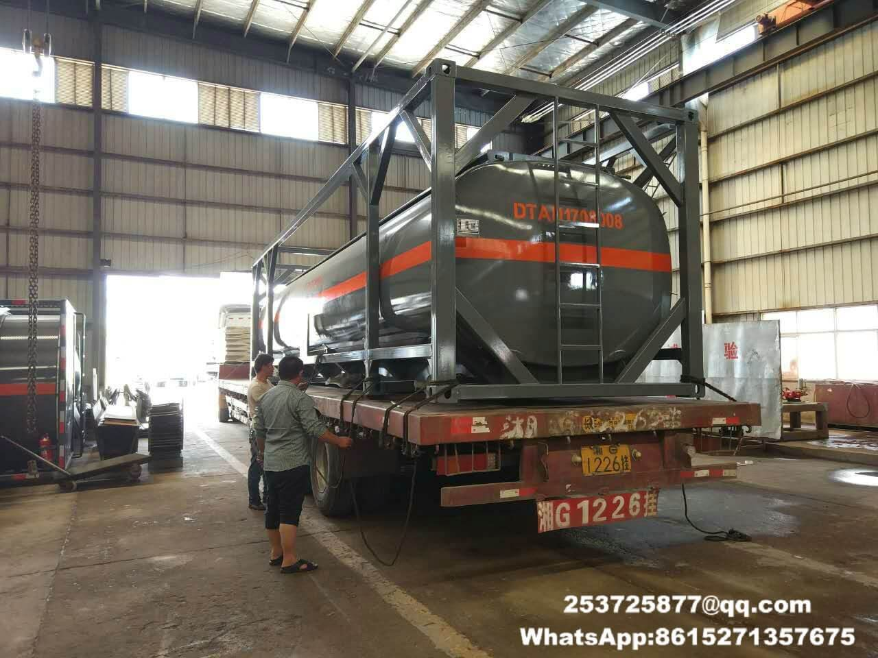 HCL ISO tank for trailer 26m3 put into container fame export to Vietnam