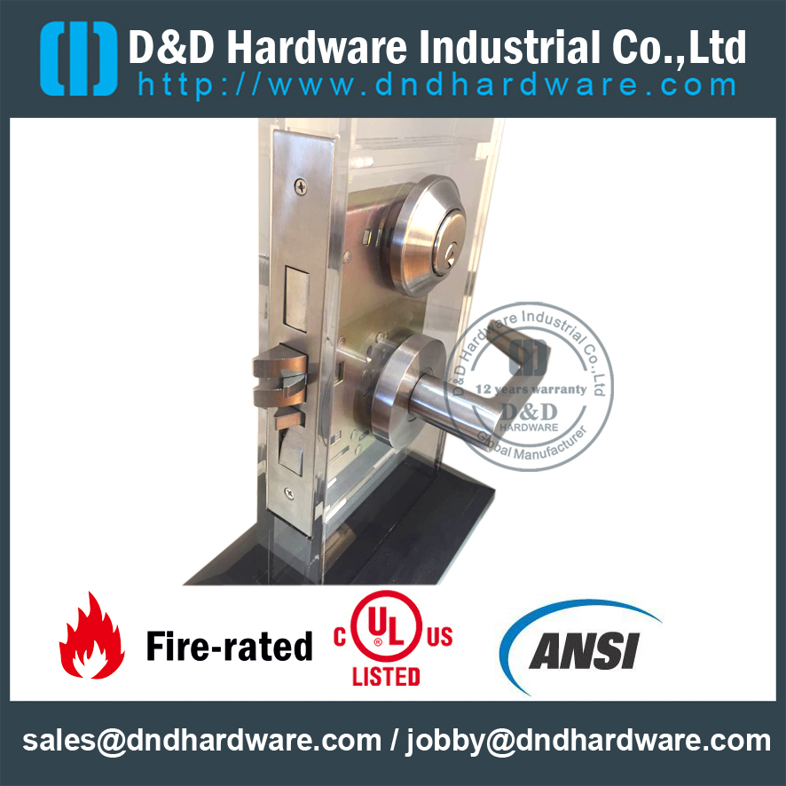 Stainless Steel American Standard Mortise Lock For Office