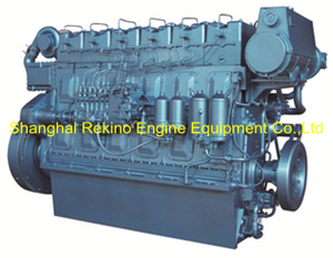 300HP 1000RPM Weichai medium speed marine diesel engine (R6160ZC300-1)