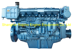 408HP 1000RPM Weichai medium speed marine diesel engine (X6170ZC408-1)
