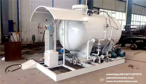 5000Liters LPG Gas Skid Filling Station with Mobile Refilling LPG Scales for LPG Bottle