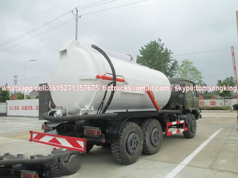 6x6 Off-road dongfeng 8000 Litres Vac Tank Truck export sale price