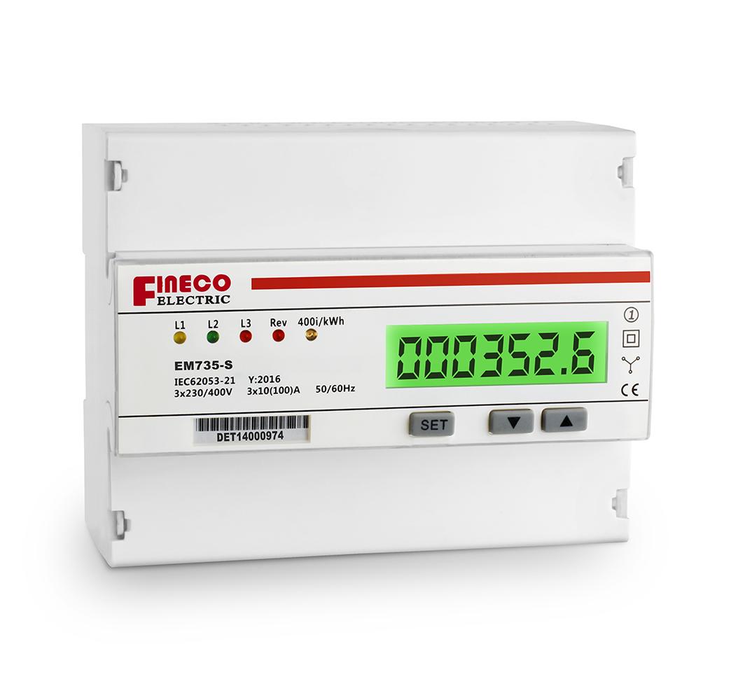 kwh meter phase wiring diagram kwh image wiring em735 s 10 100 a 3 phase 4 wire meter kwh meter electric energy on kwh