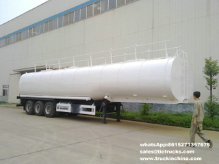 50Ton liquid asphalt tanker semi-trailer with heating and insulation 50cbm two BTL20 Burner heater export to Lagos.Nigeria