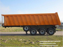 3 axle tipping semi trailer truck 80ton