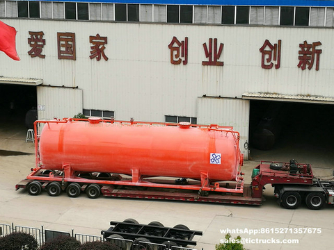Sodium hypochlorite,Hydrochloric acid steel lined PE storage tank-80000L skid mounted