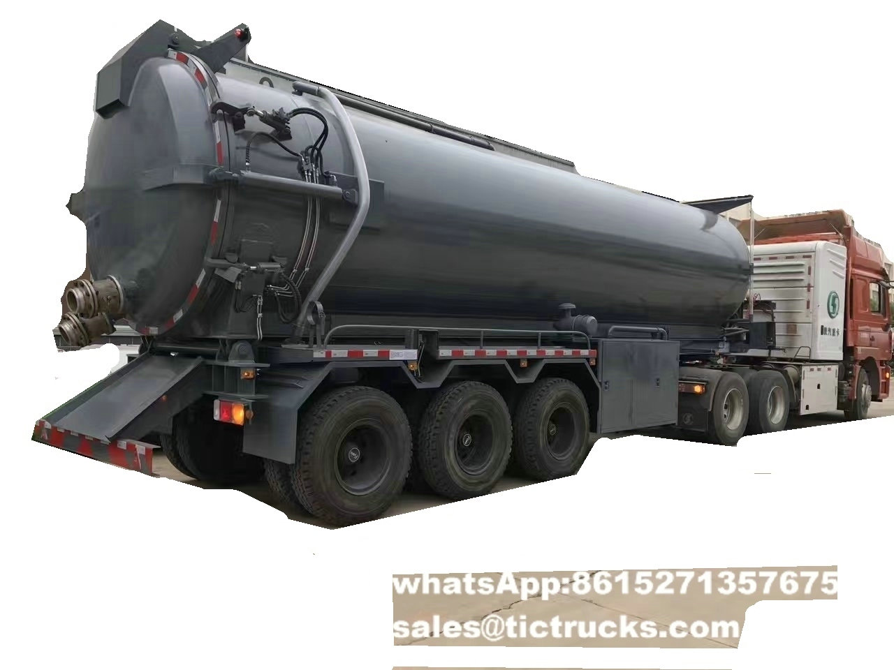 3 axle 30CBM vacuum tanker trailer Features