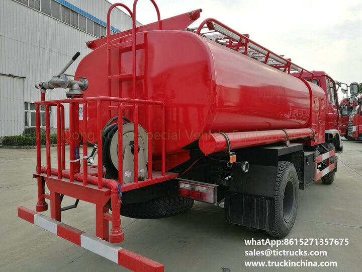 fire pump water 1200Gallon-08cbm water tank lorry truck
