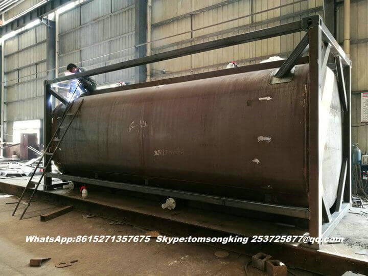 Steel lined PE ISO tank -136