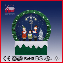(40110F190-3C-GG-L) Snowing Christmas Decorations with Frame-supported and Textile-decorated