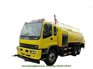 ISUZU 6x4 Water Bowser Truck with Fire Engine Pump