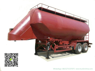 2 Axles Bulk Tanker Trailer for Wheat -Bean Grains Transport Silo Tank Capacity 35cbm