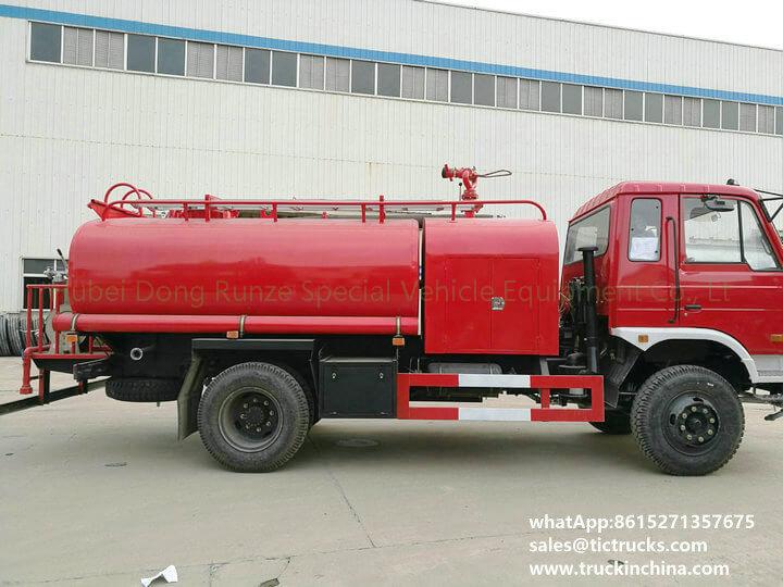 fire pump water 1200Gallon-07cbm water tank lorry truck
