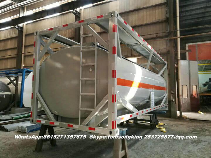 Steel lined PE ISO tank -019