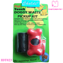 Dog Bone pet waste clean poop Bag Dispenser 20 bags supply Carrier holder Case