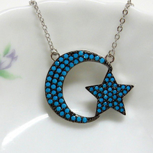 Moon and Star Fashion Jewelry Necklace