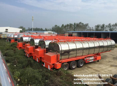 Insulated bitumen tanker trailer semitrailer 45cbm with two Burner heater export to Ghana