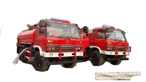 Dongfeng 6*6 fire truck for sale 153cab