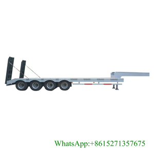 80T 4 Axles Lowbed Semi Trailer 13.5M