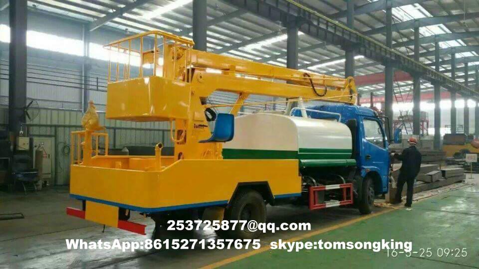 Aerial platform truck mounted water tanks for sale - Hubei