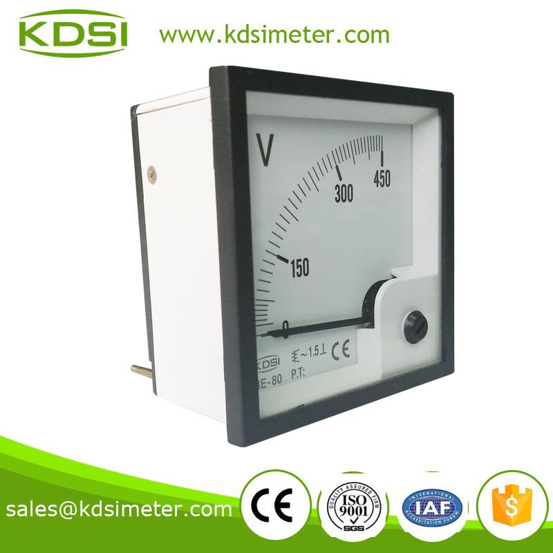 指针式交流电压表 be-80 ac450v 电动汽车用表 过阻尼